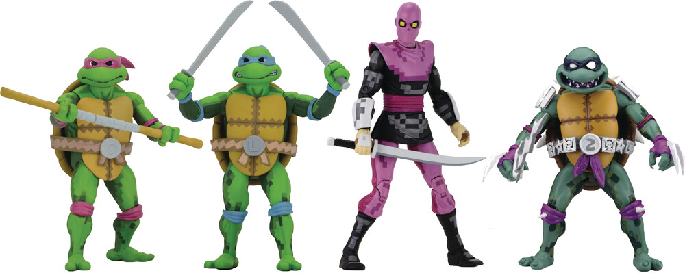 - NECA - TMNT Turtles In Time 7 Action Figure Assortment