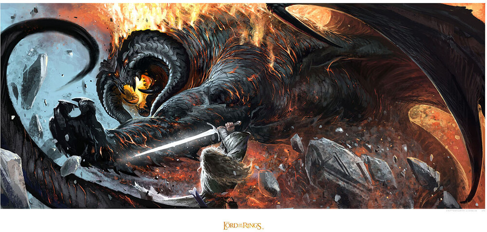 Other - WETA Workshop - Lord Of The Rings - Battle of the Peak - Gandalf vs Balrog (Art Print)