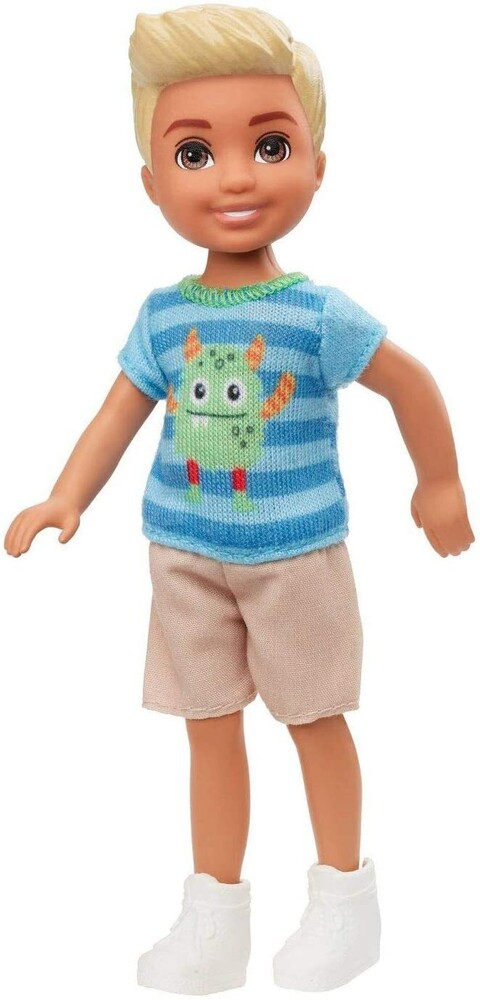 - Mattel - Barbie Club Chelsea Boy Doll with Monster Shirt and Shorts