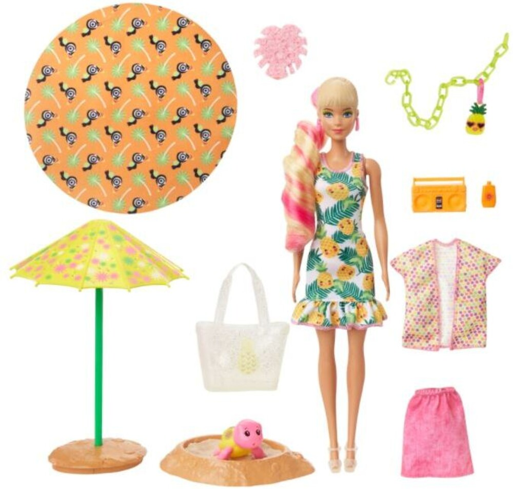 Barbie - Mattel - Barbie Ultimate Color Reveal Doll, Pineapple, One Surprise Color Reveal with Each Transaction