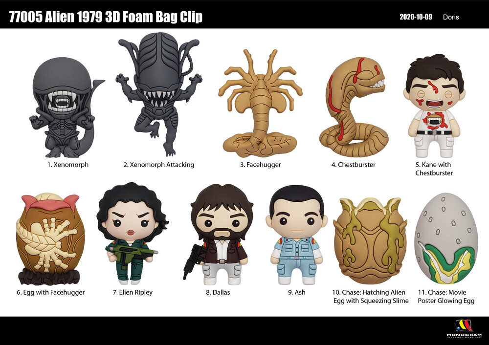 - Aliens (1979) 3d Foam Bag Clip (Key)