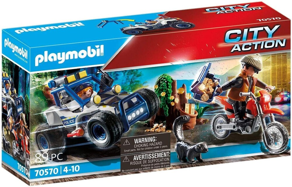 - City Action Police Off Road Car With Jewel Thief
