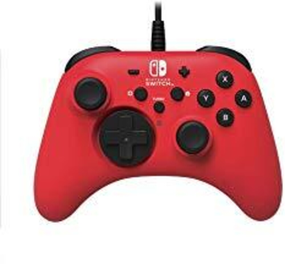 - HORI HORIPAD Wired Controller - Red for Nintendo Switch