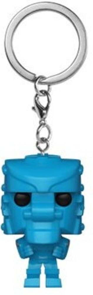 - FUNKO POP! KEYCHAIN: Mattel-RockEm SockEmRobot (Blue)