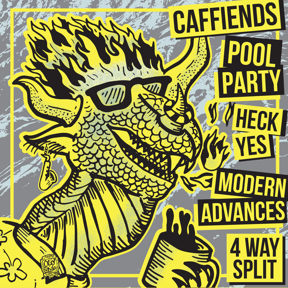 Caffiends / Heck Yes / Modern Advances - 4 Way Split
