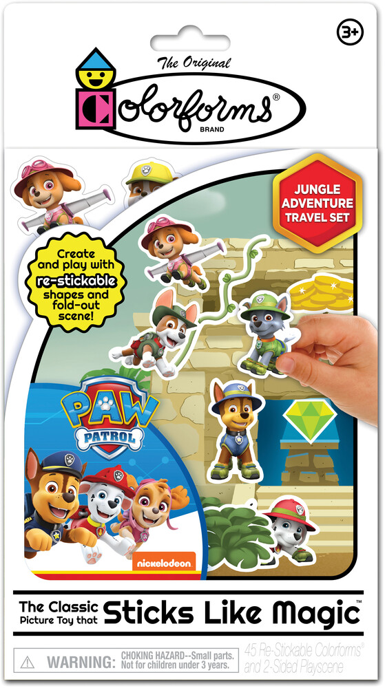 Colorforms Nickelodeon Paw Patrol Jungle Adventure - Colorforms Nickelodeon Paw Patrol Jungle Adventure Travel Set