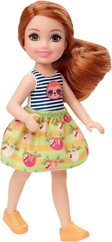 - Mattel - Barbie Club Chelsea Doll with Sloth Shirt and Skirt, Red Hair