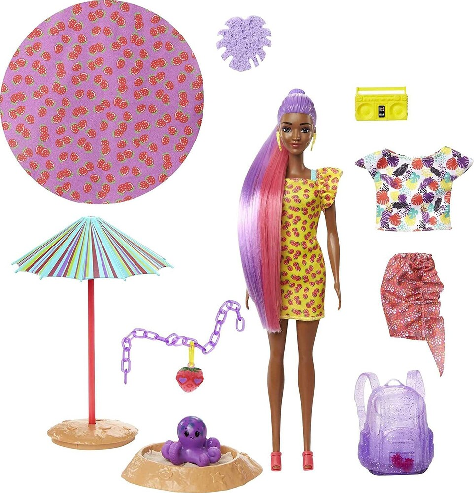 Barbie - Mattel - Barbie Ultimate Color Reveal Doll, Strawberry, One Surprise Color Reveal with Each Transaction