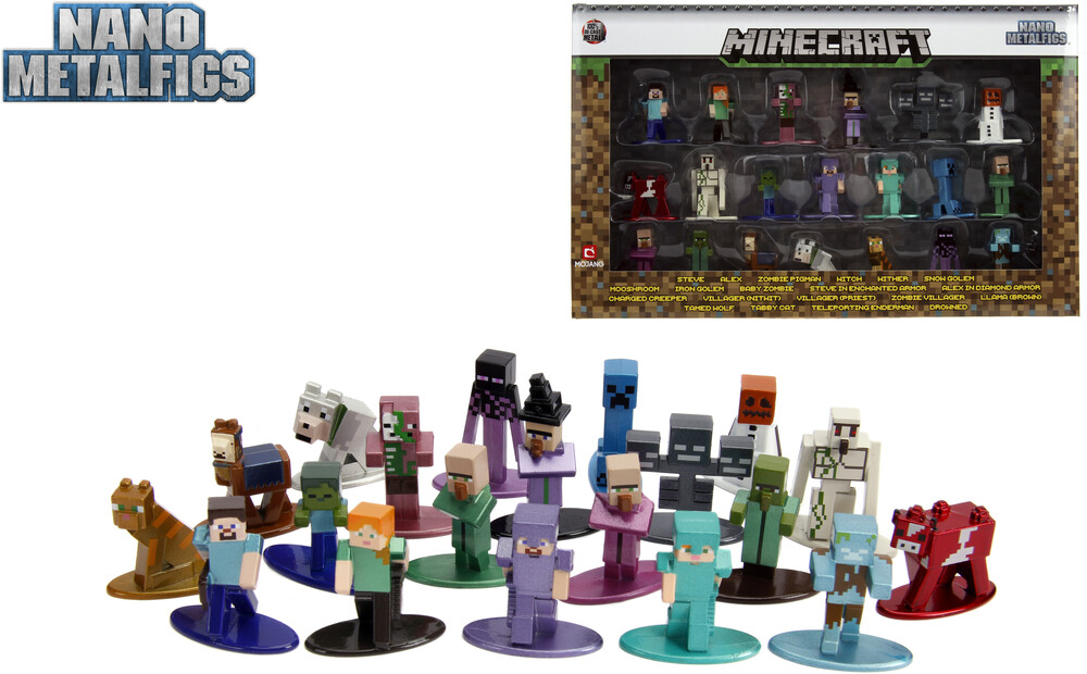 - Nano Metalfigs Minecraft 20 Pk Wave 2 (Clcb) (Fig)