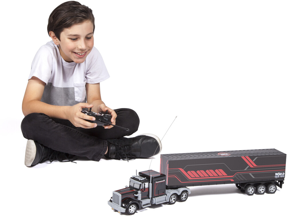 Rc Vehicles - Mega Rig Electric RC Semi Trailer Truck (One random color per transaction. Colors black, blue or red)