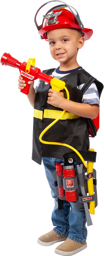 Playsets - Deluxe Fire Fighter Playset: With Fire Extinguisher, Backpack and Water Gun
