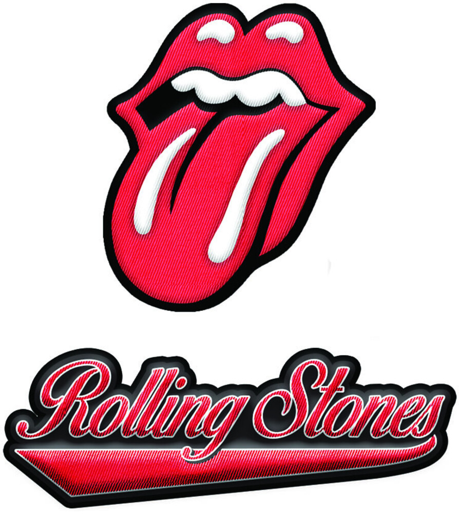 Rolling Stones 2 PC Embroidered 2X3 Patch Set - The Rolling Stones 2 Pc Embroidered 2X3 Patch Set