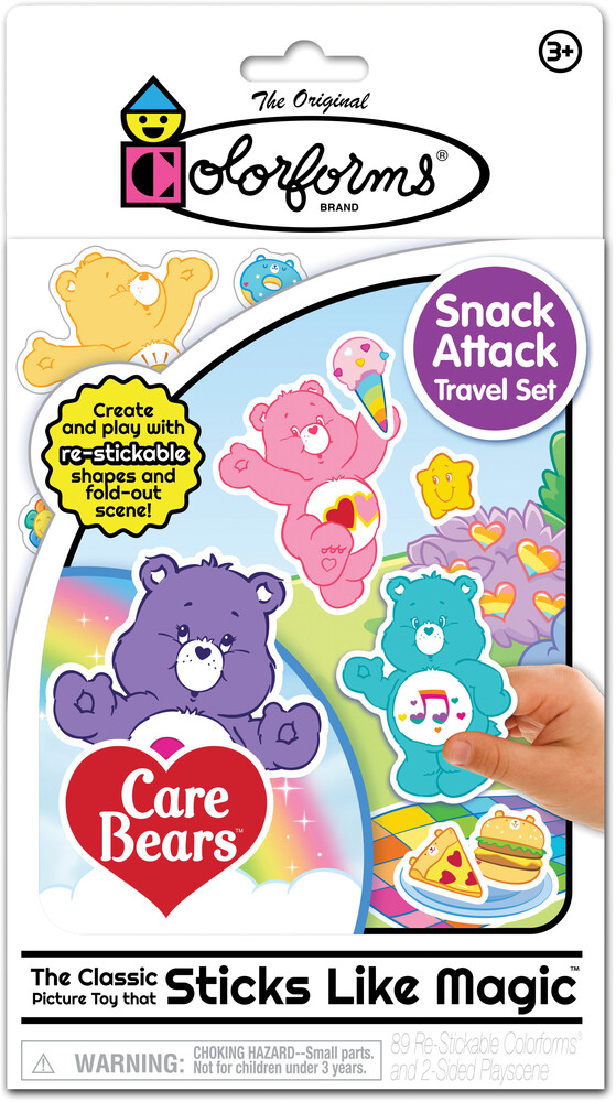 Colorforms Care Bears Snack Attack Travel Set - Colorforms Care Bears Snack Attack Travel Set
