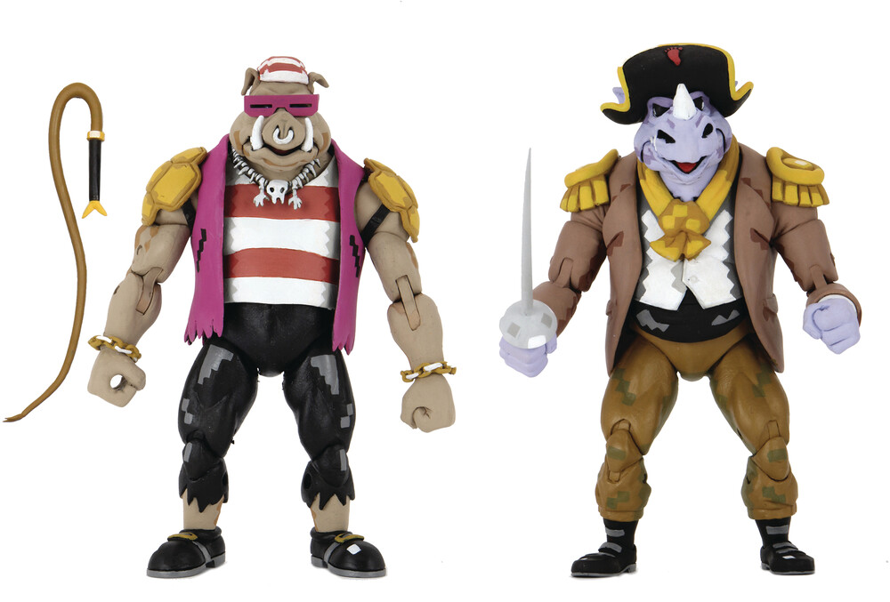 - NECA - TMNT Turtles In Time Pirate Bebop & Rocksteady 7 Action Figure2Pk