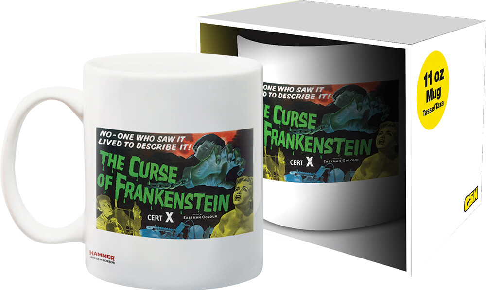 Hammer Frankenstein Curse 11Oz Boxed Mug - Hammer Frankenstein Curse 11oz Boxed Mug
