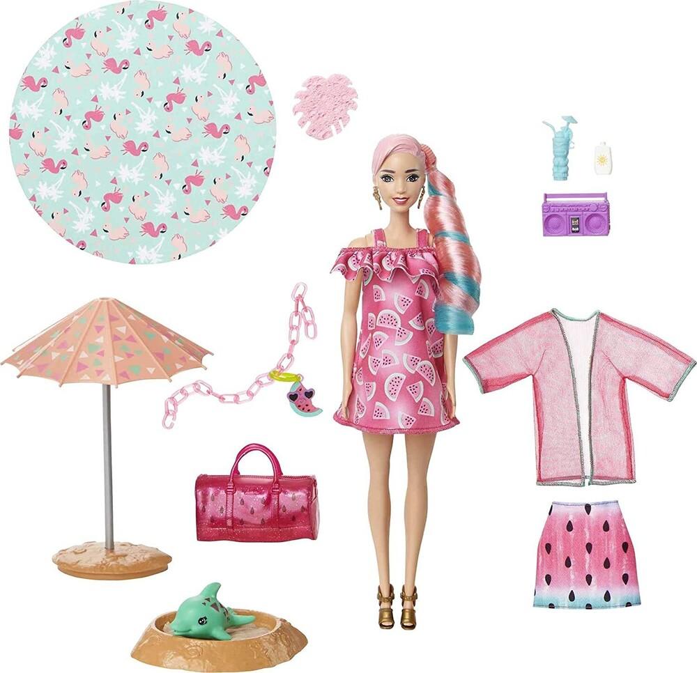 Barbie - Mattel - Barbie Ultimate Color Reveal Doll, Watermelon, One Surprise Color Reveal with Each Transaction