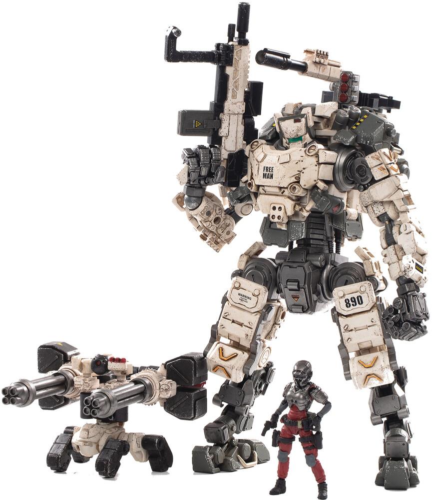 - Joy Toy Steel Bone Classic Armor Mecha White 1/25