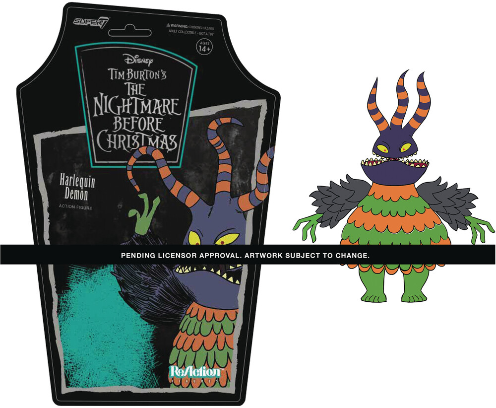 Nightmare Before Christmas W1 - Harlequin Demon - Super7 ReAction Nightmare Before Christmas ReAction Wave 1 - Harlequin Demon