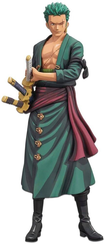 Banpresto - BanPresto - One Piece Roronoa Zoro Manga Dimensions Grandista Figure