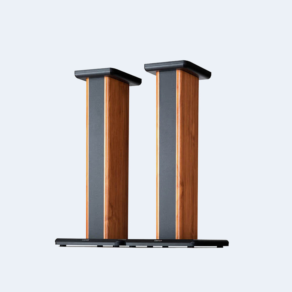 - Edifier 4003653 SS02 S2000PRO / S1000DB Speaker Stands Pair 26.5Inches Wood Grain (Brown/Black)