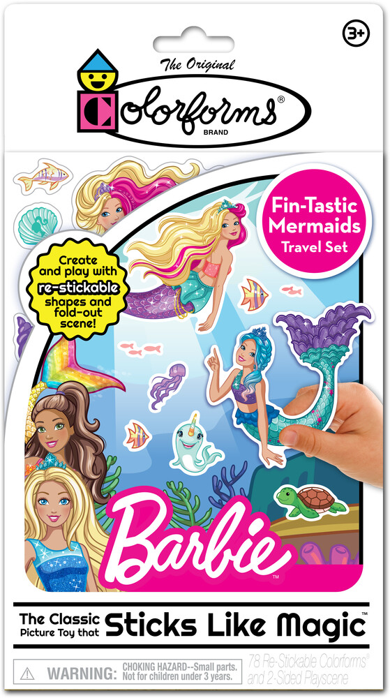 Colorforms Barbie Fin-Tastic Mermaids Travel Play - Colorforms Barbie Fin-Tastic Mermaids Travel Play Set