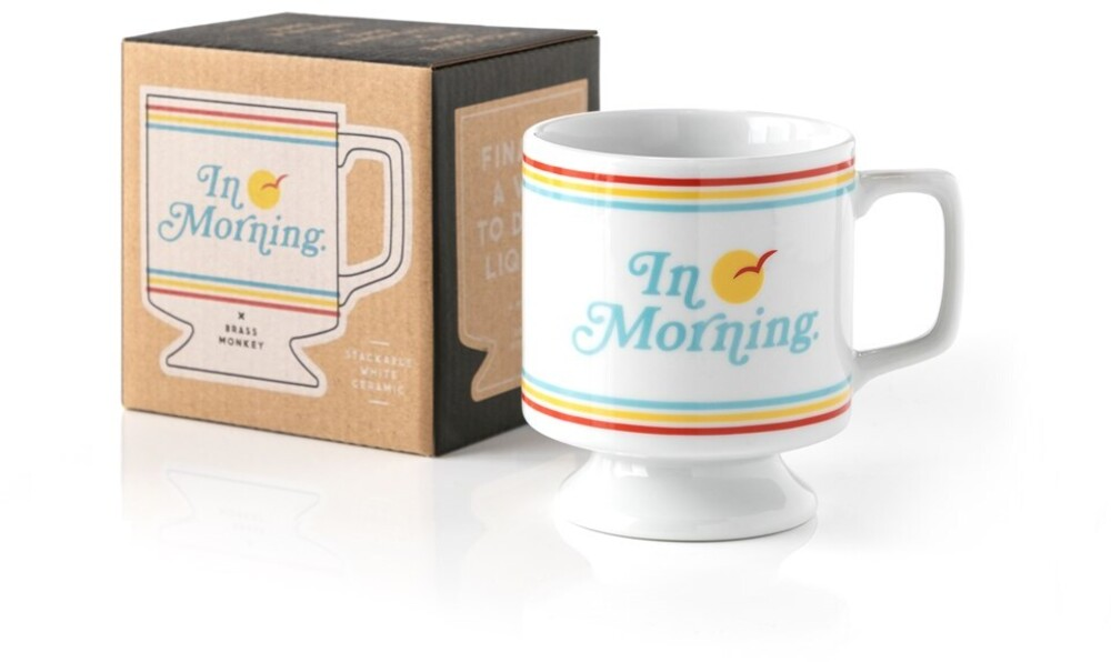 - In Morning: Ceramic Pedestal Mug
