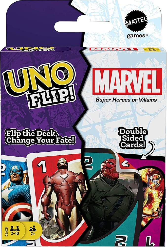 - Mattel Games - UNO Flip Marvel