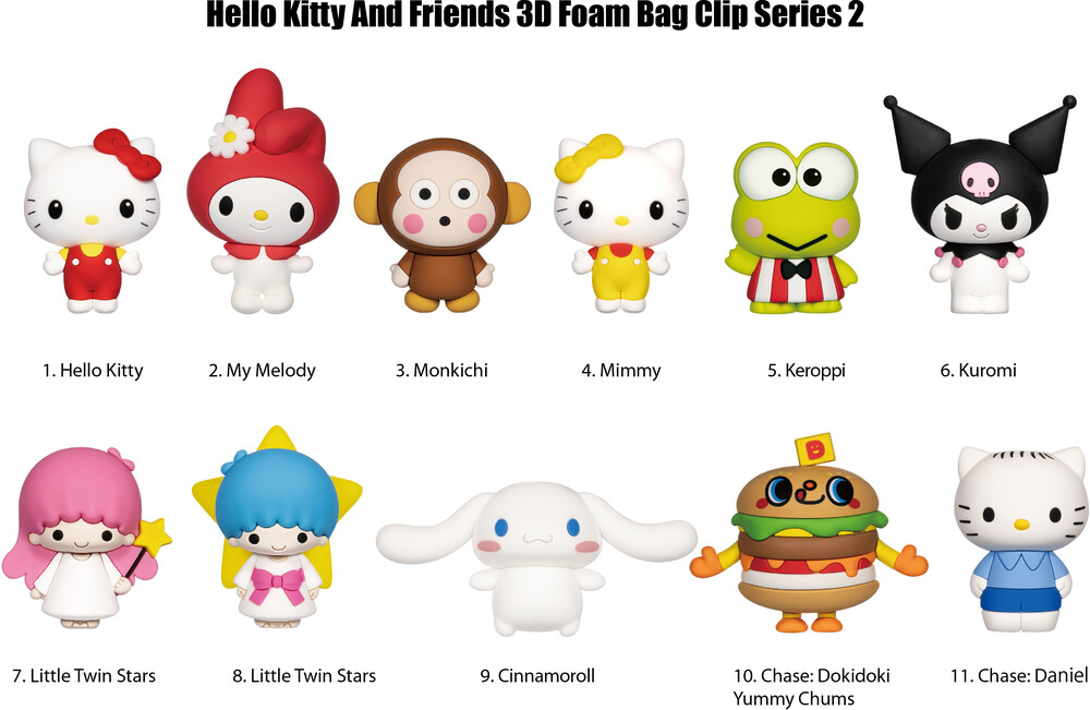 - Hello Kitty 3d Foam Bag Clip - Series 2 (Key)