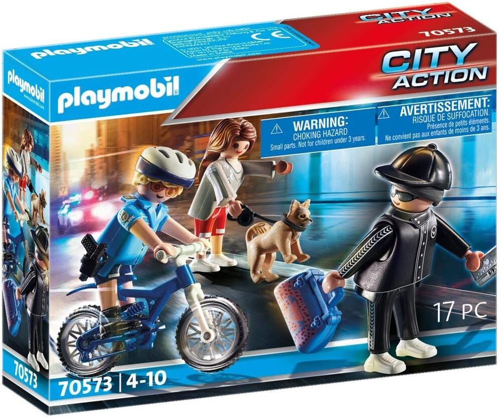 Playmobil - City Action Police Bicycle With Thief (Fig)