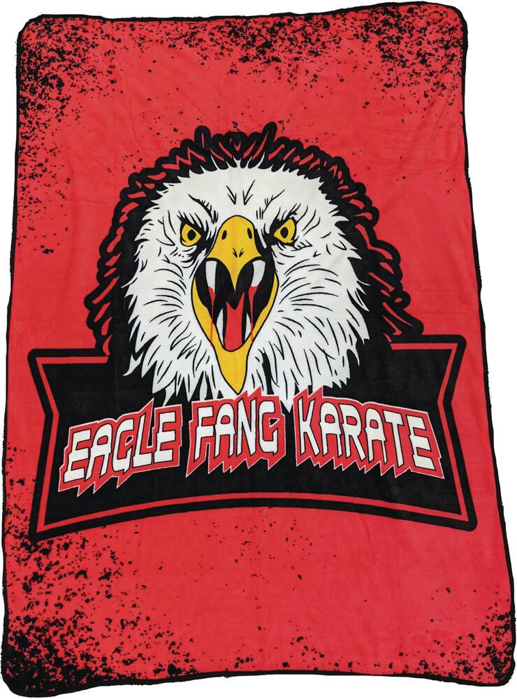 - Cobra Kai Eagle Fang Logo Fleece Blanket (Blan)