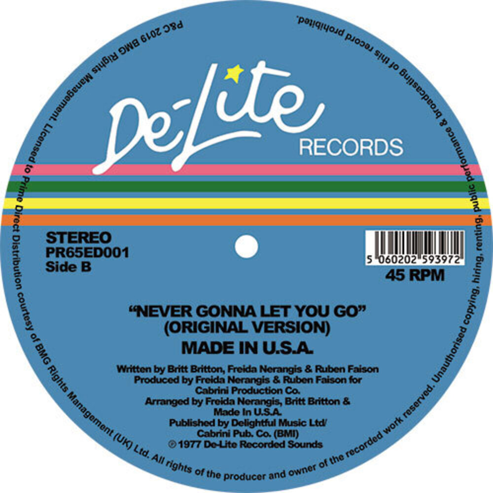 Made In Usa - Never Gonna Let You Go (Theo Parrish Ugly Edit)