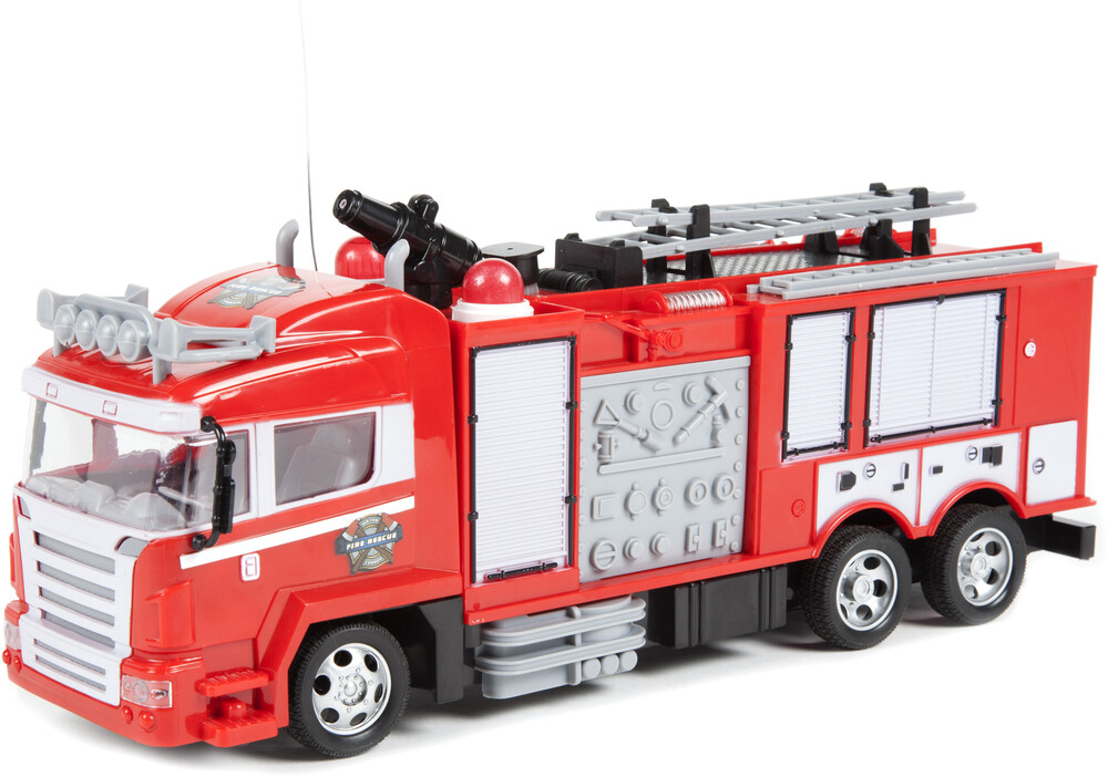 Rc Vehicles - Fire Truck Remote Control Truck w/ Light Up Lights & Shoots Water