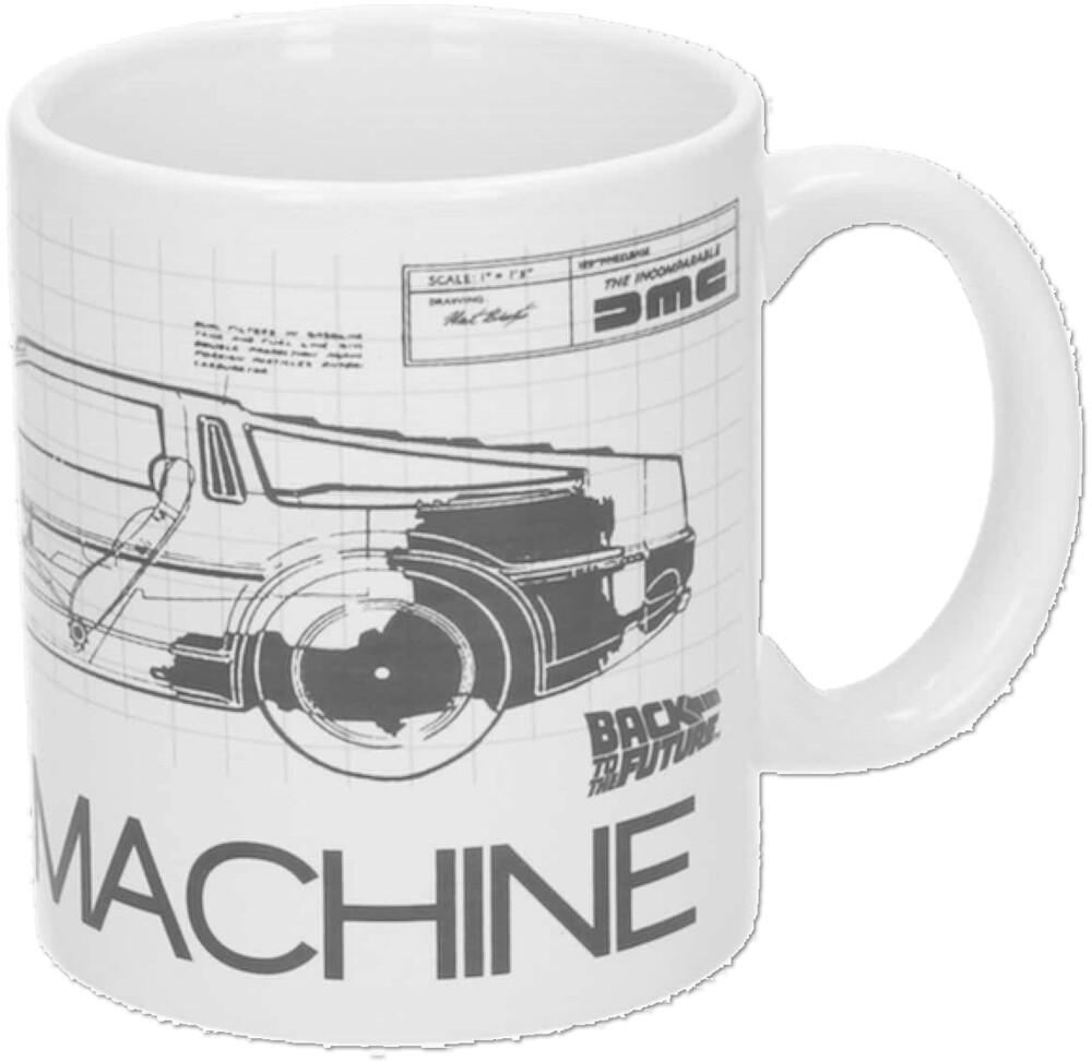 - Back To The Future Time Machine 10 Oz White Ceramic Mug