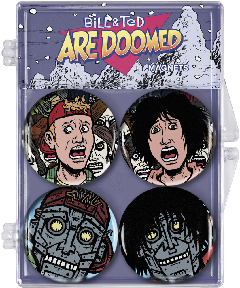 Bill & Ted's Excellent Adventure [Movie] - Bill and Ted Are Doomed: Magnet 4-Pack