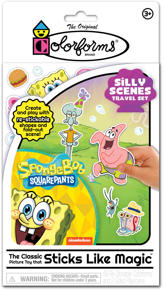 Colorforms Spongebob Squarepants Silly Scenes - Colorforms Nickelodeon SpongeBob SquarePants Silly Scenes Travel Set