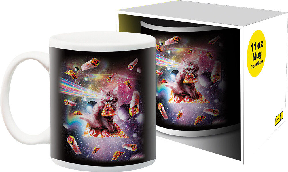 Random Galaxy Pizza Cat 11Oz Boxed Mug - Random Galaxy Pizza Cat 11oz Boxed Mug