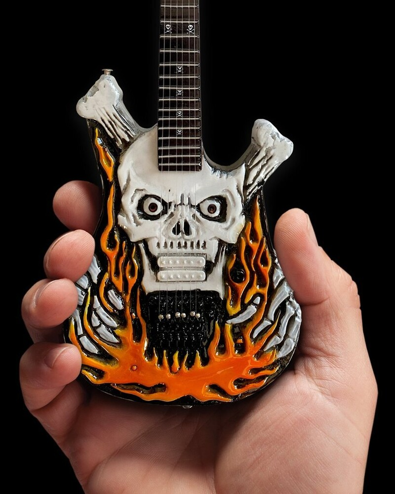 - George Lynch Dokken Flaming Skull Mini Guitar