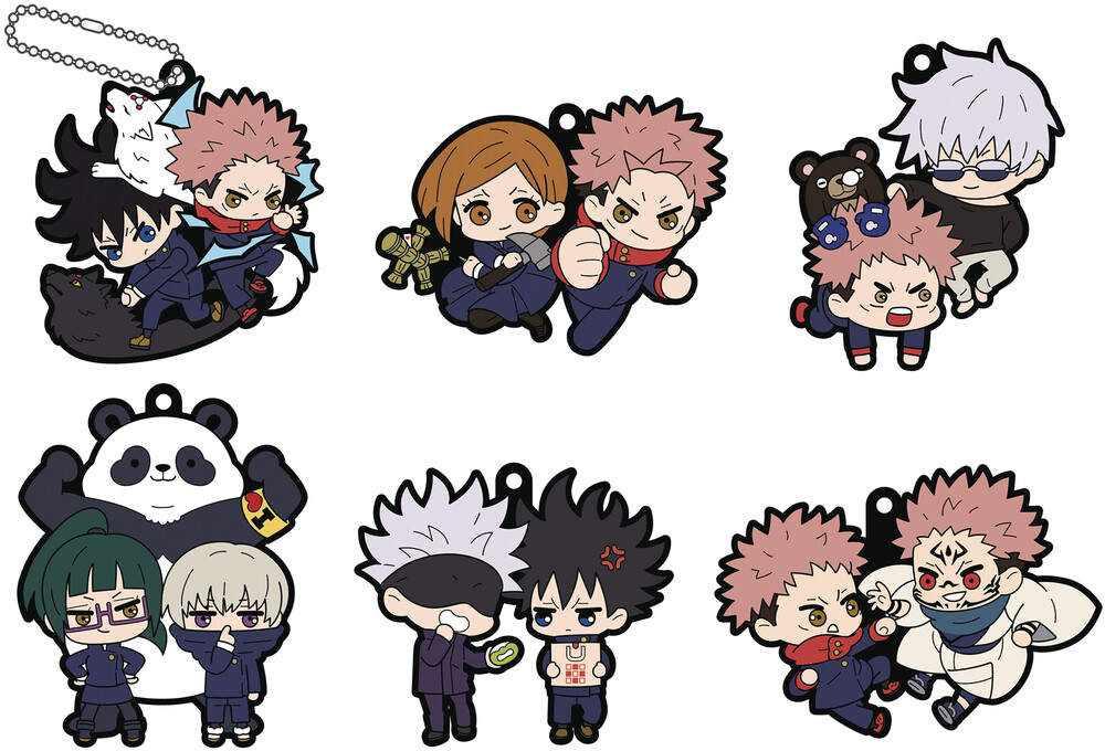 - Jujutsu Kaisen Rubber Mascot Buddy Colle 6pc Ds