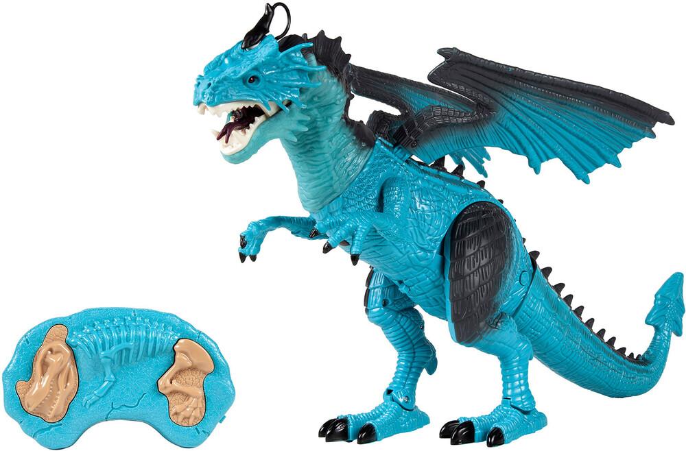 Rc Wild Life - Monster World Blue Dragon Electric Walking Smoking RC Monster