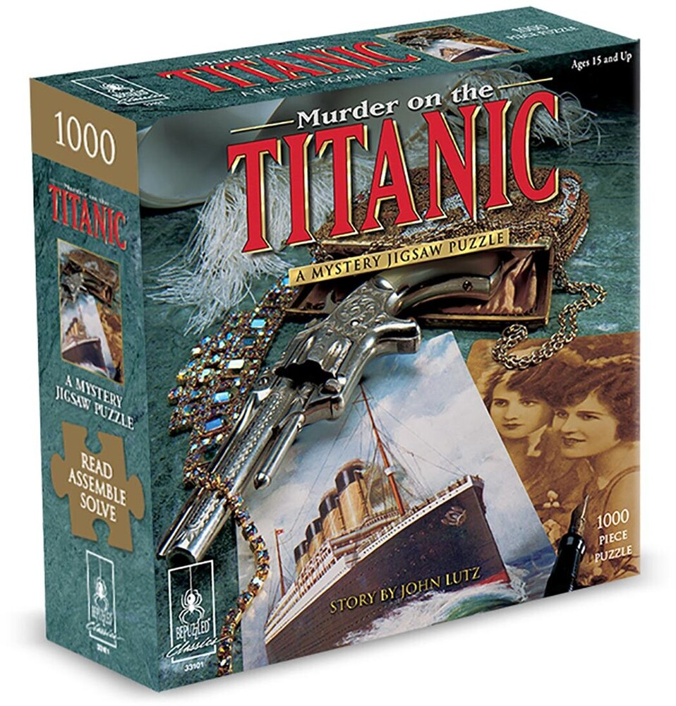 Murder on Titanic Mystery 1000 PC Jigsaw Puzzle - Murder On The Titanic A Mystery 1000 Pc Jigsaw Puzzle