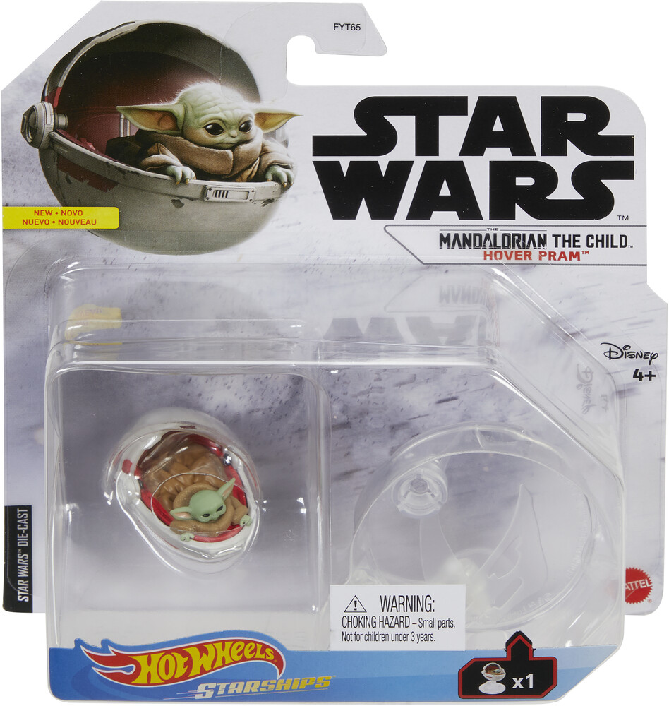 Hot Wheels Star Wars - Mattel - Hot Wheels Star Wars, The Mandalorian The Child Hover Pram Starship (Baby Yoda)