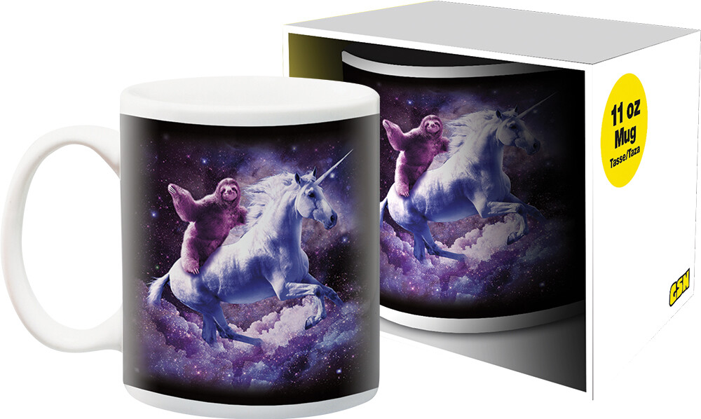 Random Galaxy Sloth Unicorn 11Oz Boxed Mug - Random Galaxy Sloth Unicorn 11oz Boxed Mug