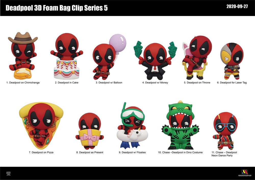 - Marvel Deadpool Series 5 - 3d Foam Bag Clips (Key)