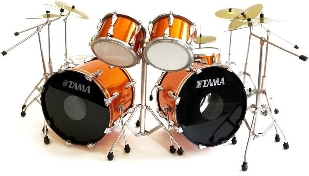 - Lars Ulrich Metallica Tama Orange Mini Drum Kit