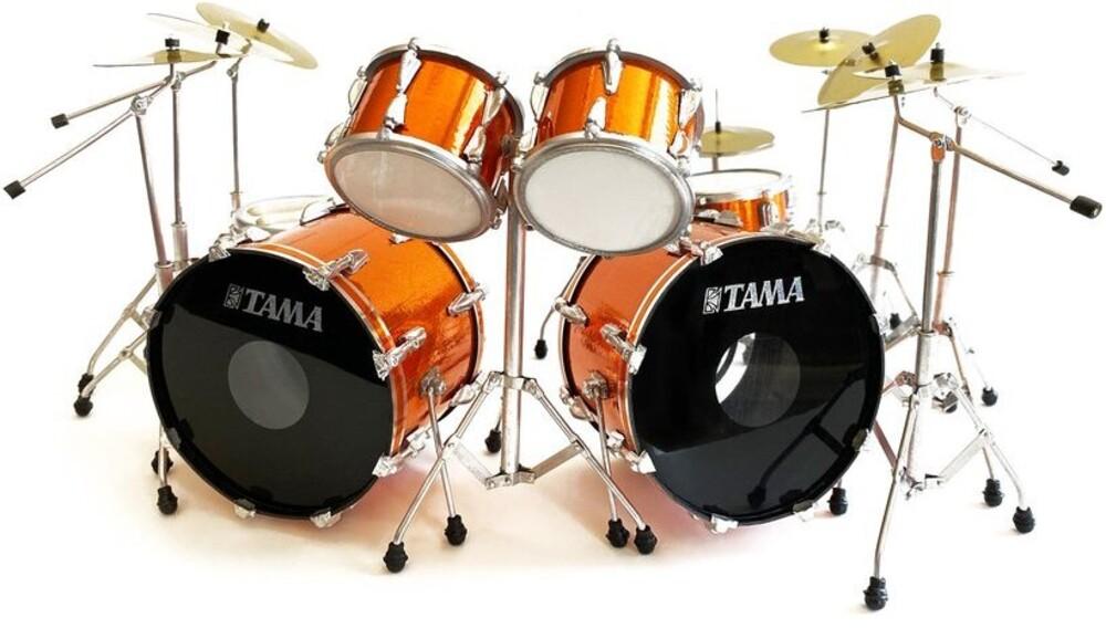 - Lars Ulrich Metallica Tama Orange Mini Drum Kit