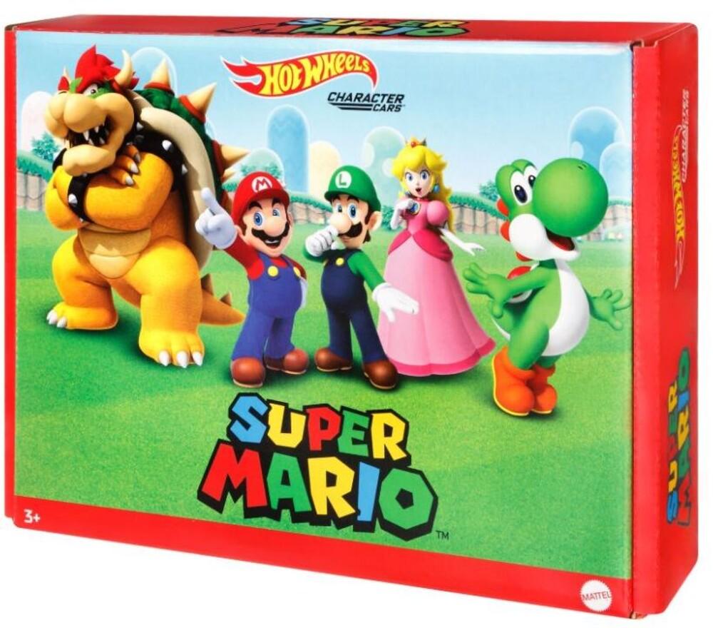 Hot Wheels - Hw Super Mario Character Car 5 Pack (Tcar)