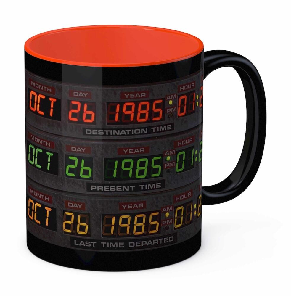 - Back To The Future Control Panel 10 Oz Black Ceramic Mug