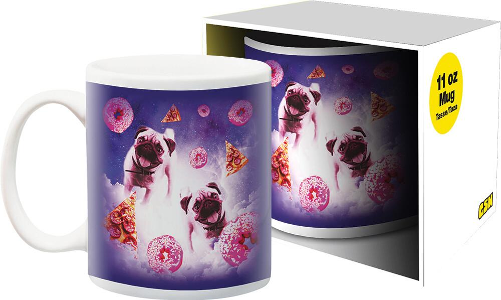Random Galaxy Pug Donut 11Oz Boxed Mug - Random Galaxy Pug Donut 11oz Boxed Mug