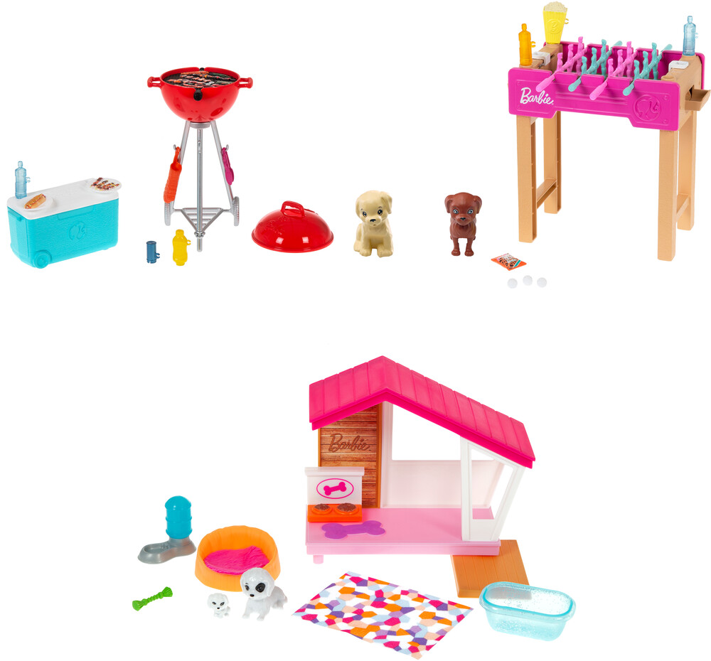 - Mattel - Barbie Mini Playset with Pet Assortment