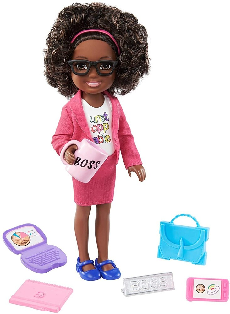 - Mattel - Barbie Chelsea Can Be Boss Doll and Playset